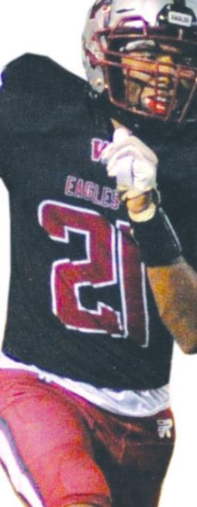 Malachi Johnson scored 4 touchdowns in Friday night's win against El Reno. Josh Burton/WDN
