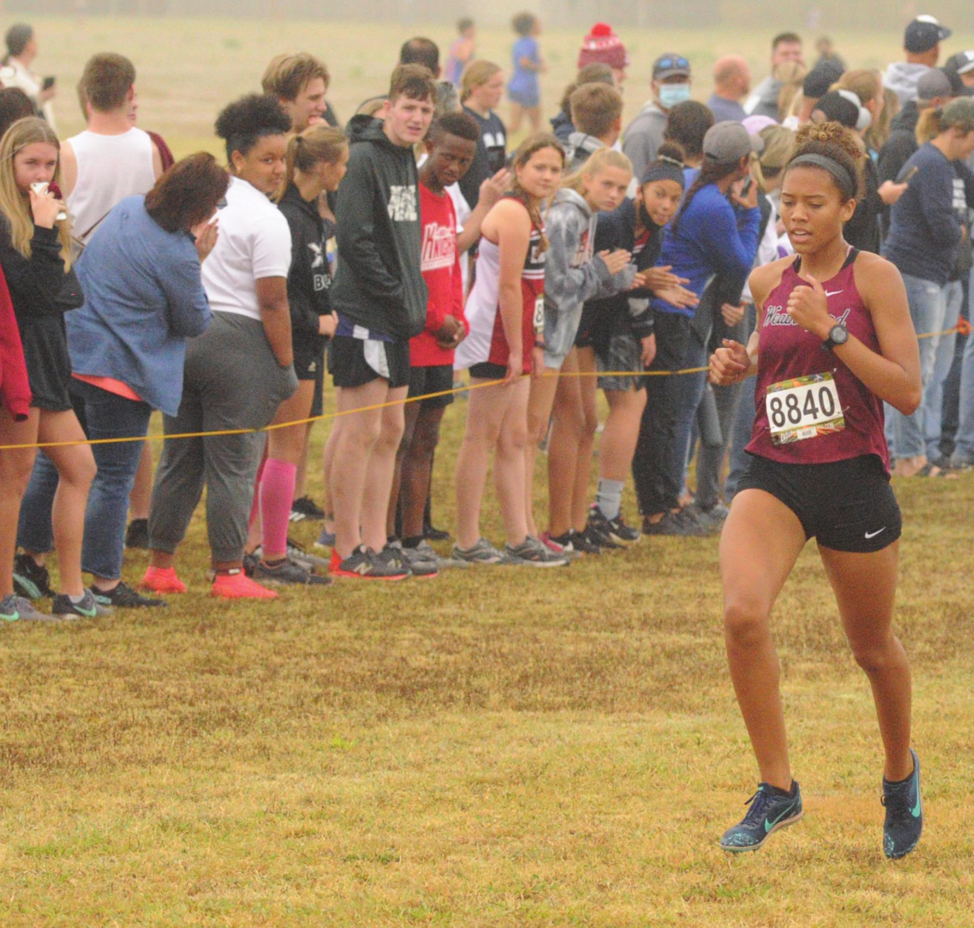 Kennadi Price won the girls cross country race at Oklahoma Bible Academy Saturday. Josh Burton/WDN