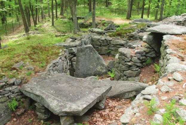 "Police have made an arrest following a 15-month-long investigation into vandalism at a group of rock configurations in New Hampshire called ""America's Stonehenge."" Provided"