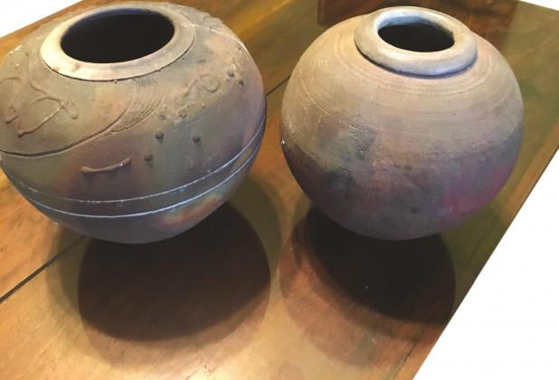 Provided This photo shows two pots made by Stephen Walker.