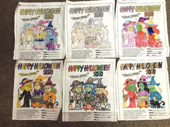 Halloween Coloring Contest winners